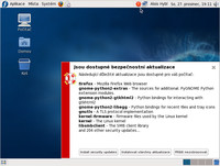 Ohlášení aktualizací v distribuci Fedora 10
