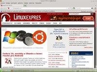 openSUSE 12.1 běžící na notebooku