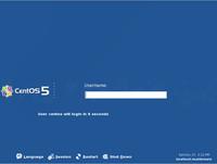 Přihlašovací dialog distribuce CentOS 5