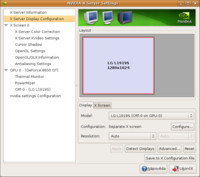 nvidia-settings - doinstalovaná aplikace grafické karty NVIDIA