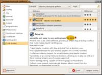 Popis aplikace Amarok ve správci balíků
