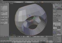 Typický WYSIWYG 3D modelovací nástroj Blender