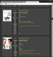 Sbírka exportovaná do HTML