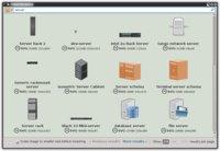 """Okno prohlížeče clipartů po zadání klíčového slova """"server"""""""