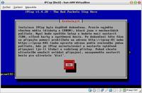 Informační okno úspěšného ukončení základní instalace