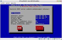 Nastavení DHCP serveru vnitřní sítě