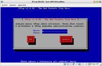 Zadání hesla uživatele admin pro webové rozhraní IPCop
