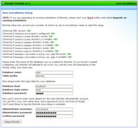 Druhý krok, nastavení databáze a přístupu