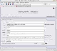 Jednoduché nastavení Redirection page settings